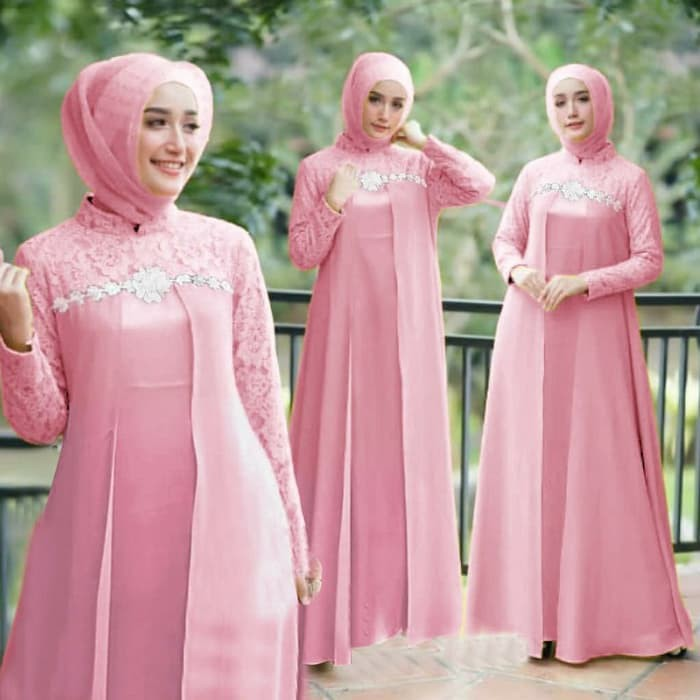 Trand Terbaru Gamis Remaja Anaya Nadin Aida Maxi Gamis Maxy Renda Rosilia Merah Muda 26iep Shopee Indonesia