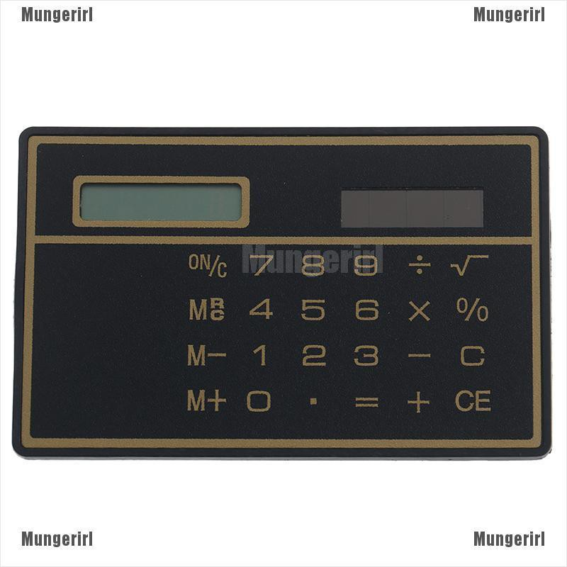 Mini Calculator Credit Card Size Stealth School Cheating Pocket Size 8 Digit