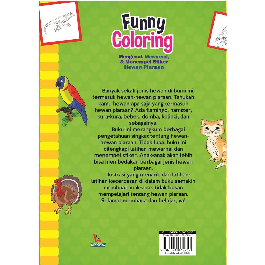 Buku Funny Coloring Aneka Hewan Peliharaan Laksana
