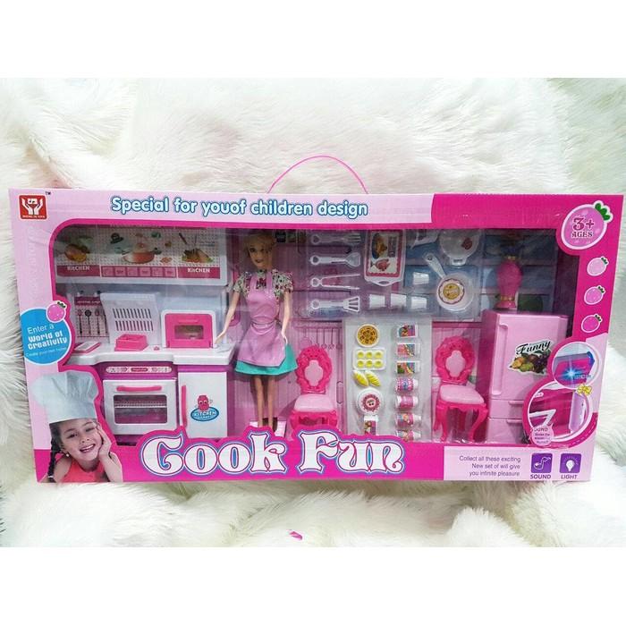 Sale Mainan Masak Masakan Dapur Kitchen Set Barbie Chief Shopee Indonesia