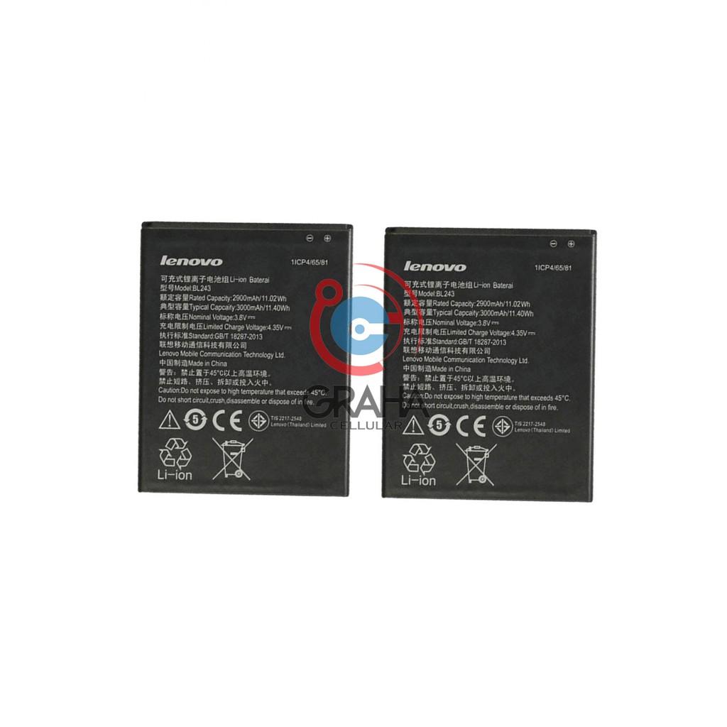 Baterai/Battery Double Power Ic Rakkipanda Lenovo A5000 / P70 / P90 / P1M (