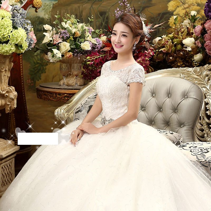 1602002 Putih Ekor Gaun Pengantin Wedding Gown Wedding Dress .