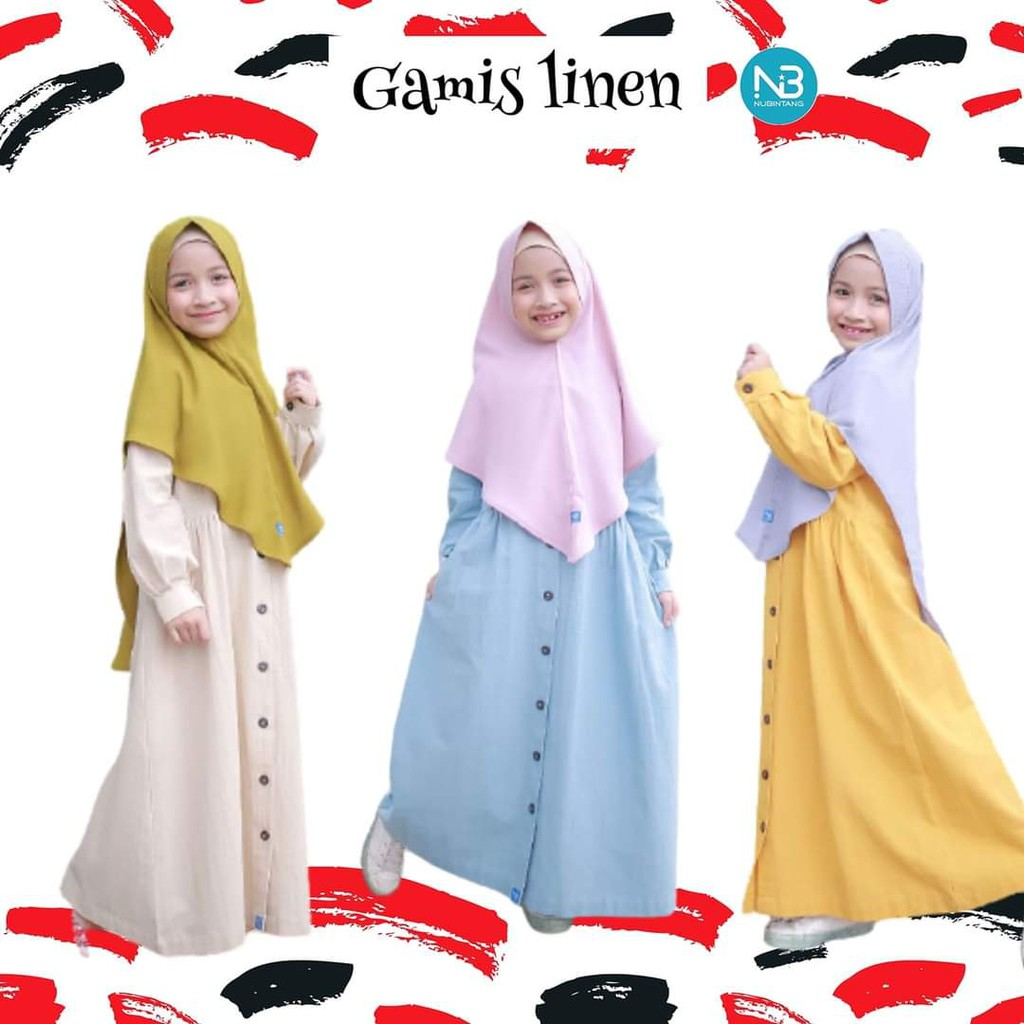 Gamis Anak Linen by NuBintang