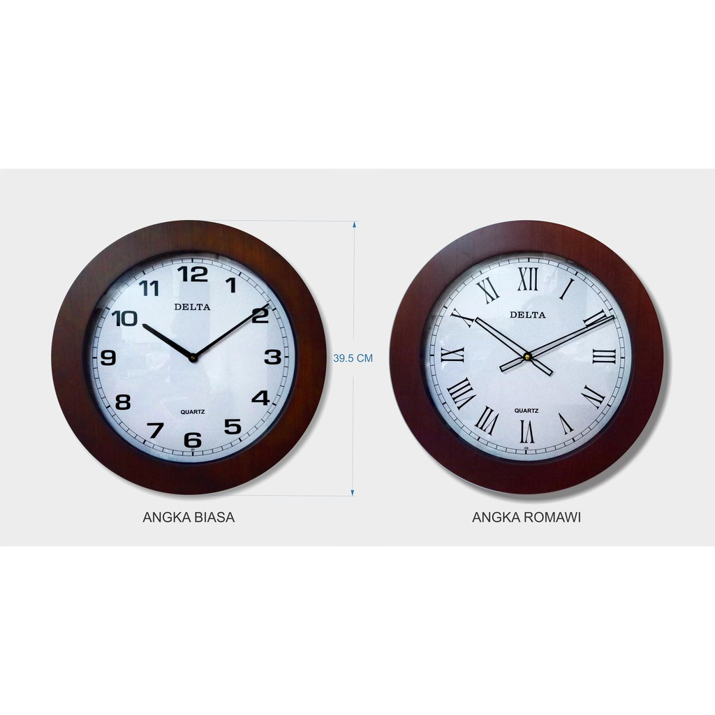 Jam Dinding Laris Diameter 40 CM - List Tebal Urat Kayu   Shopee Indonesia