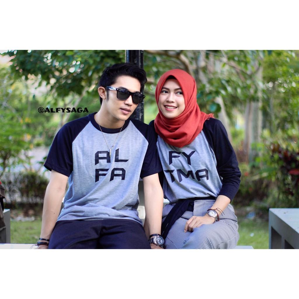 Kaos Couple Bisa Cetak Nama   Baju Couple Romantis  b439dd560c