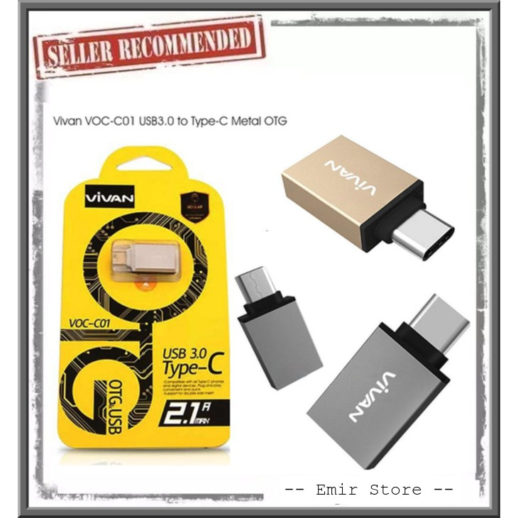 REMAX Adapter Charger OTG USB Type-C OTG 2 Sisi Bahan Metal | Shopee Indonesia
