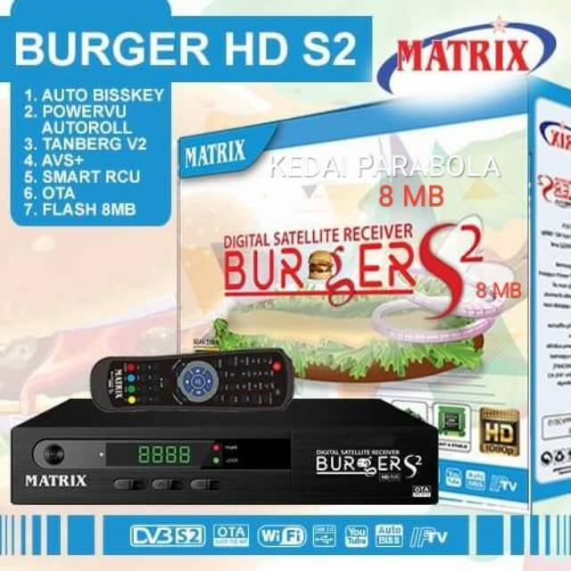 Receiver Parabola Matrix burger S2 K5S 8mb sony ten cling