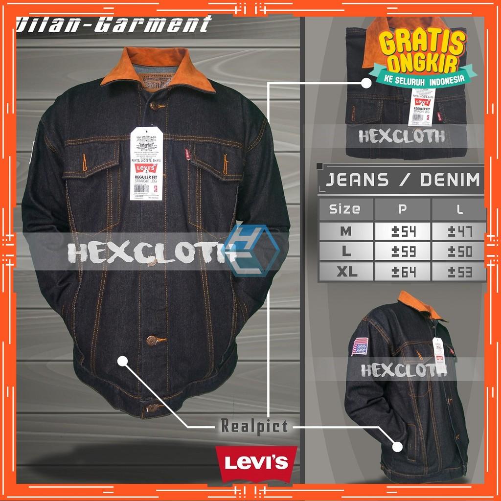 Jaket Jeans Denim Premium Levis Pria Wanita Cowo Cewe Unisex Oversize Keren - Maroon   Shopee Indonesia