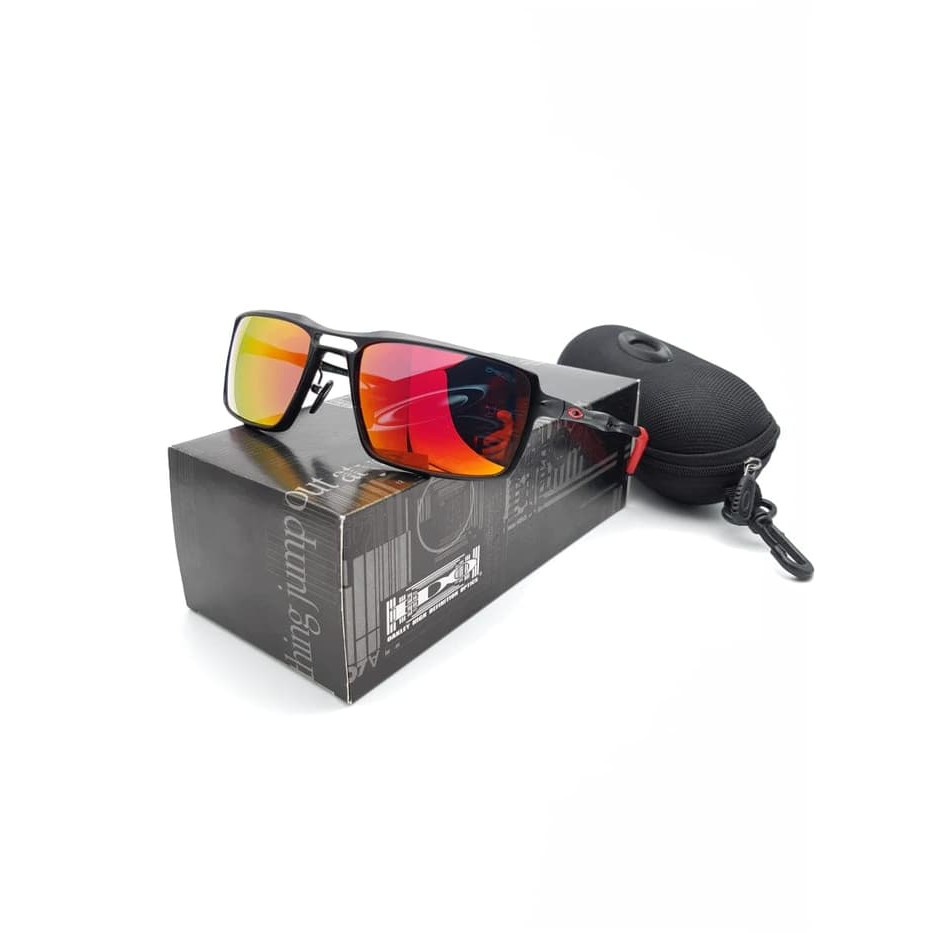 Kacamata Oakley Radar Polarized Sunglasses Pria Hitam  c73f77b5cf
