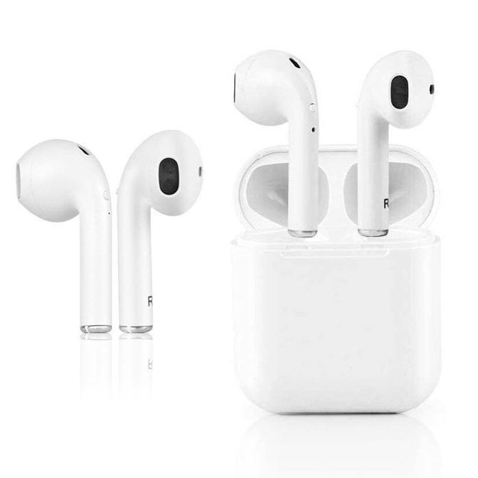 (Harga!!) Headset/hedset Bluetooth/blututh/BT Wireless Earphone Airpods V4.2 Sport i8S-TWS