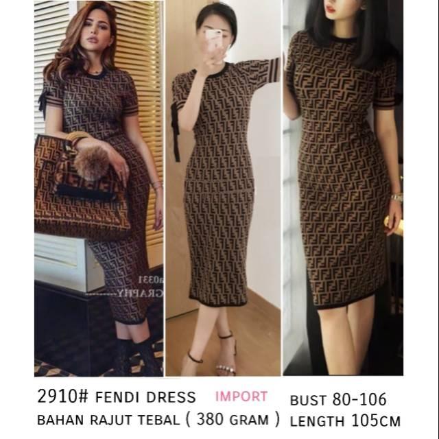 dress fendi - Temukan Harga dan Penawaran Online Terbaik - Pakaian Wanita  Februari 2019  a18903b3e2