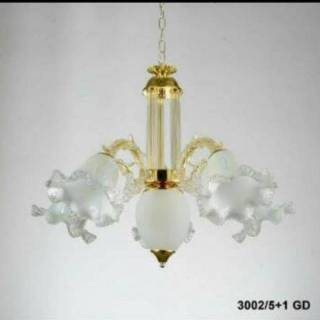 Lampu Gantung Cabang 5+1 Lampu / Lampu Hias / Lampu Tempel / Lampu Gantung Antik