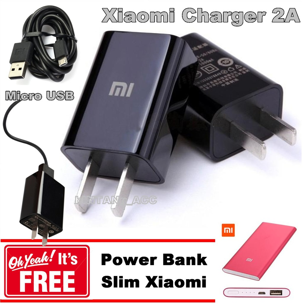 Xiaomi Travel Charger Type C For Mi4c 2a Original Nonpack Lenovo P36 Micro Usb Kabel Gratis Powerbank Slim Shopee Indonesia
