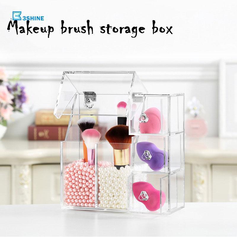 Kotak Wadah Multifungsi dengan Bahan Akrilik untuk Organizer Kosmetik / Make Up