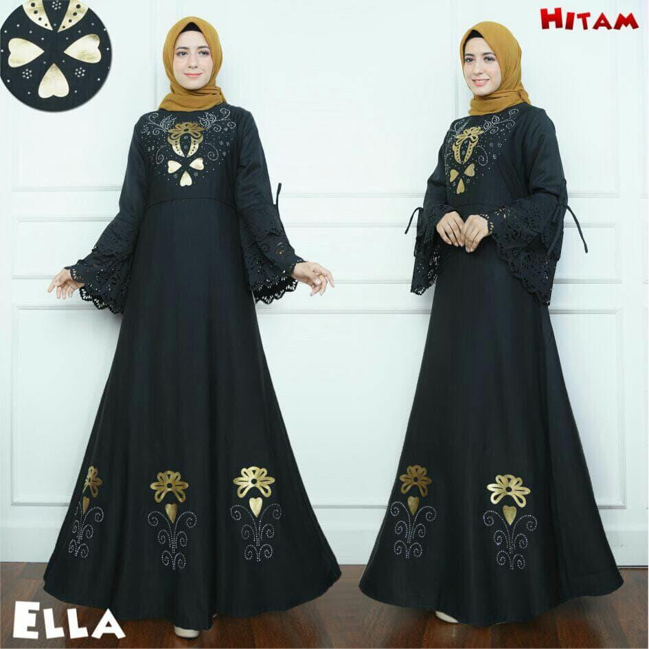 termurah Gamis / Baju / Pakaian Wanita Muslim Ella Syari Good Quality  jakarta