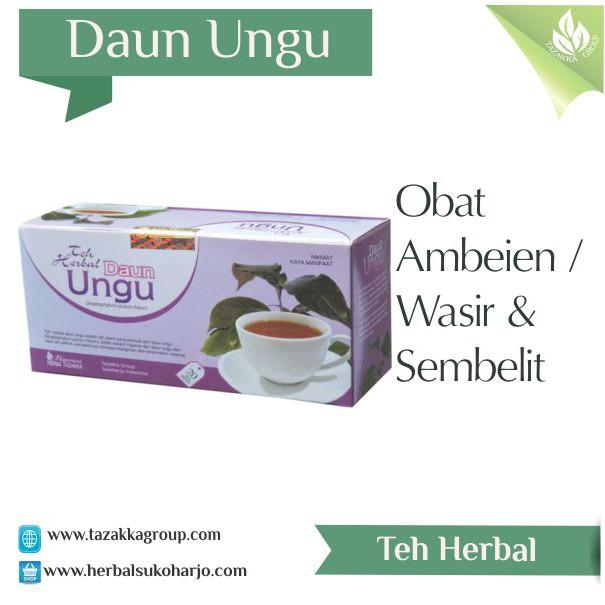 Obat Ambeien Sembelit Dan Wasir Dengan Teh Herbal Daun Ungu Tazakka Murah Alami Aman Halal | Shopee Indonesia