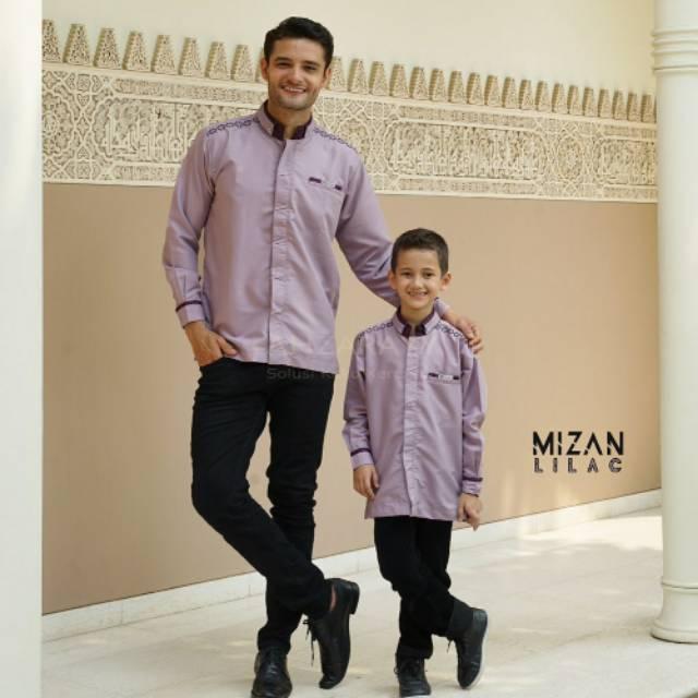 SALE!!! Kemko Kemeja Koko Couple Lengan Panjang Mizan Lilac Original by Ahzarayy
