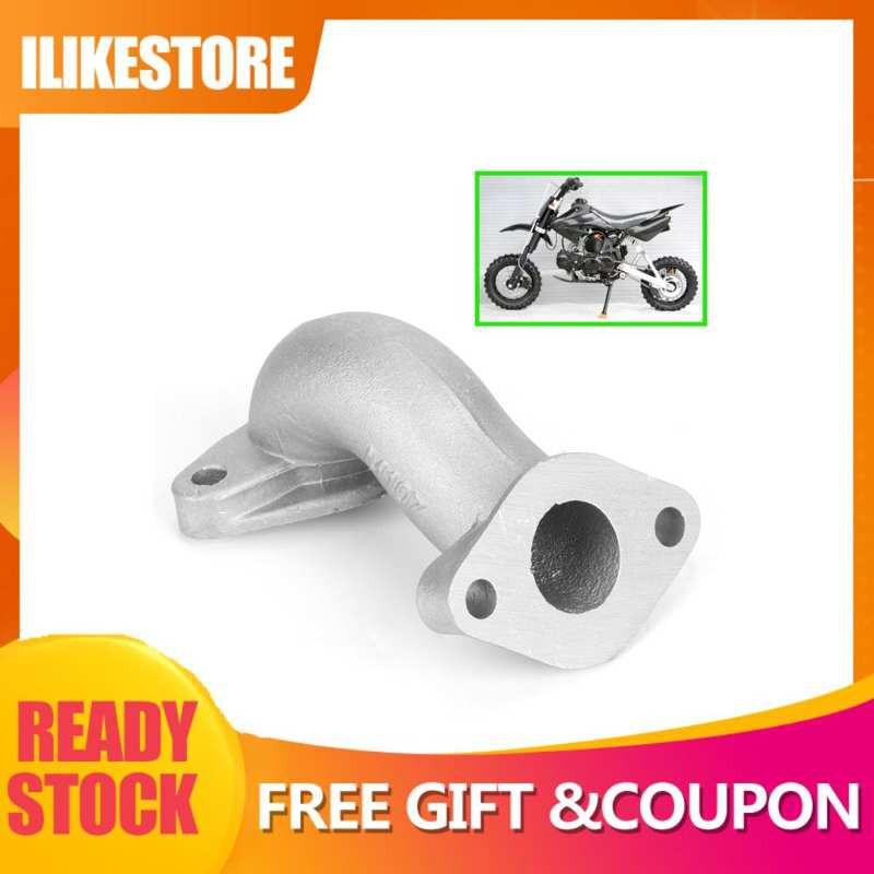 Manifold Inlet Pipe,Manifold Intake Pipe Steel Alloy Manifold Intake Pipe Fit for Kazuma 50cc 70cc 90cc 110cc 125cc Pit Dirt Bike ATV Quad