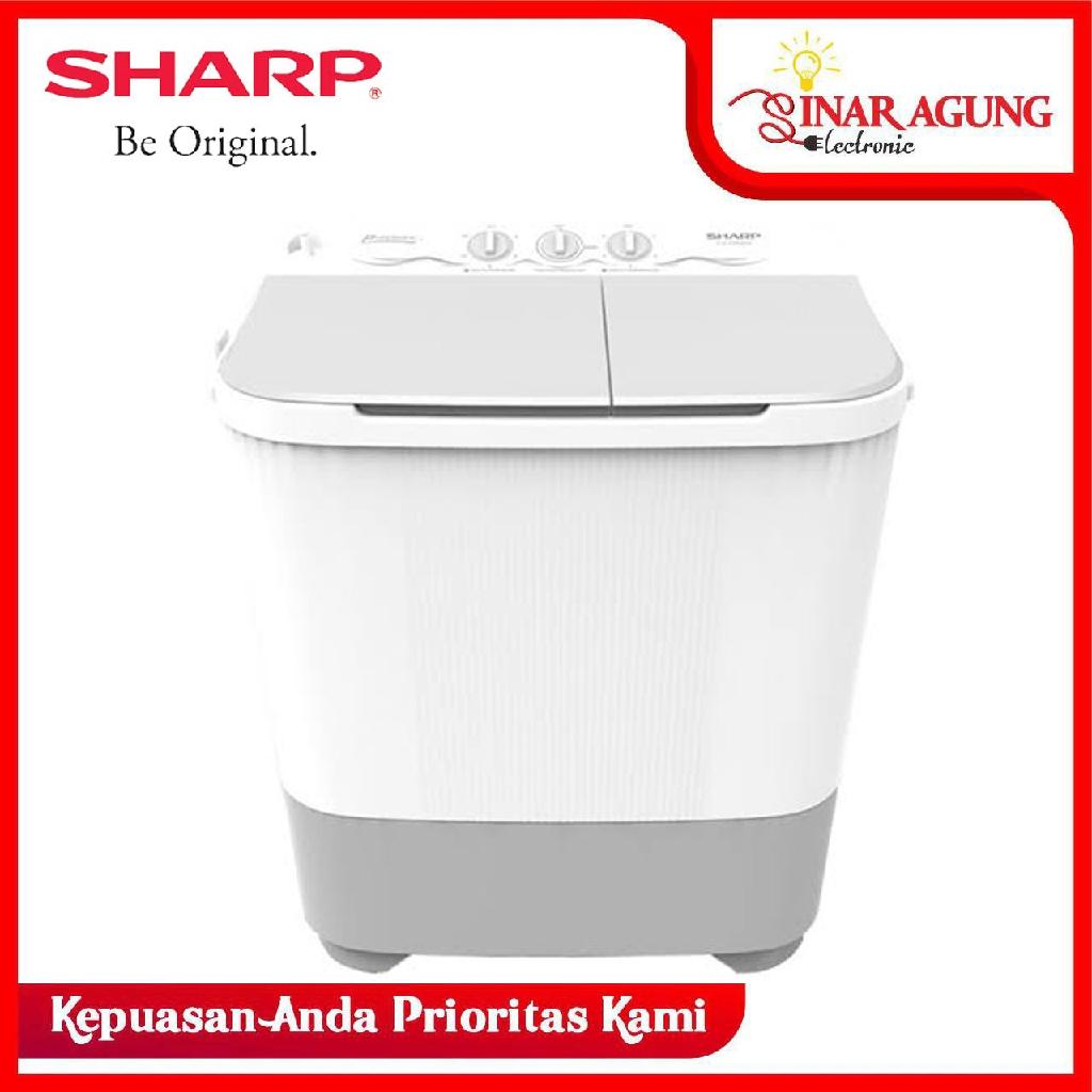 Mesin Cuci Top Loading Sharp Es T90mw Es T90mw 2 Tabung 9 Kg Garansi Resmi Shopee Indonesia