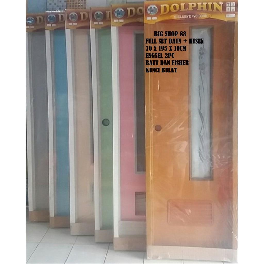 Pintu Wc Pintu Kamar Mandi Pintu Toilet Pvc Exclusive Door Full Set Daun Dan Kusen Motif Kaca Shopee Indonesia