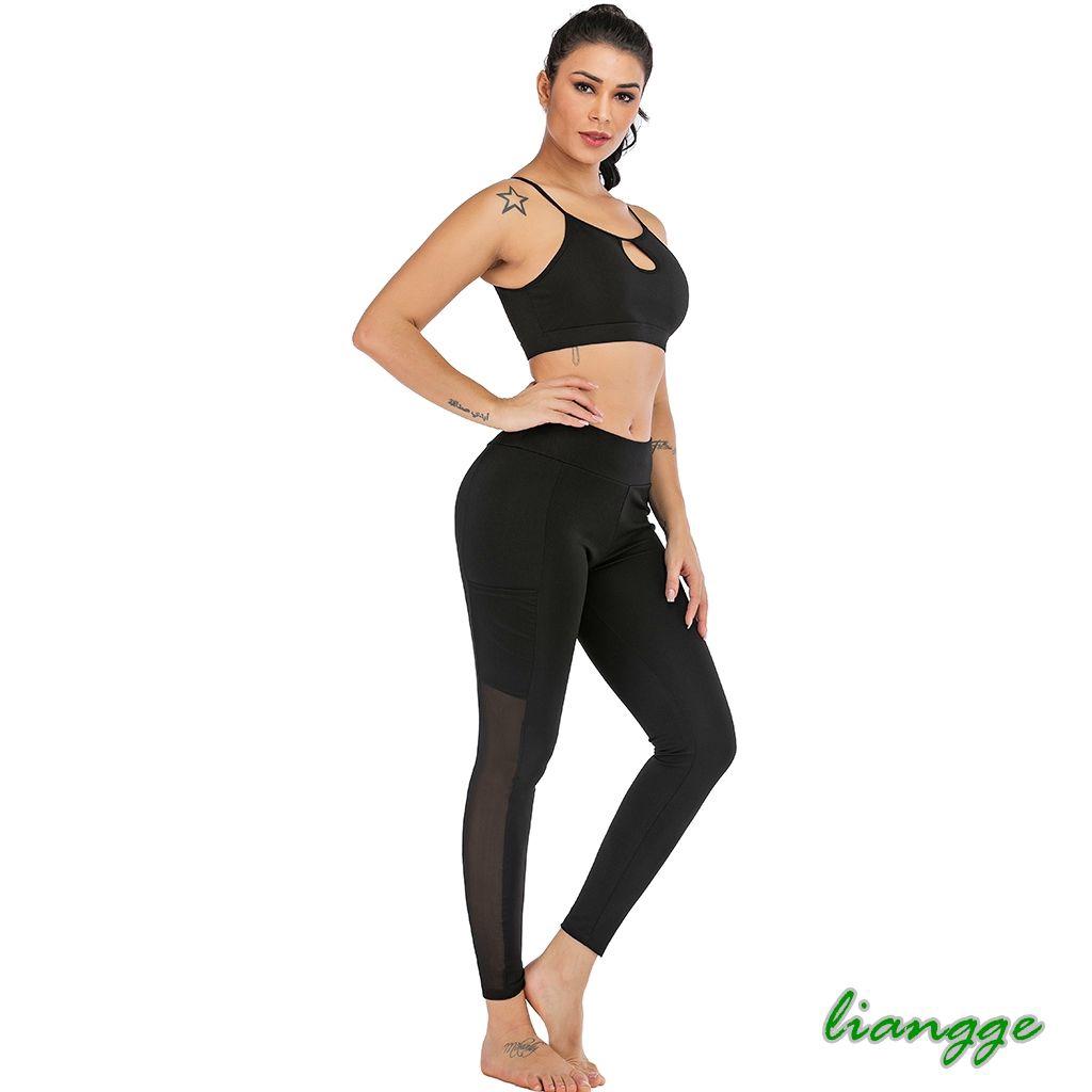 Celana Legging Panjang Wanita Model High Waist Bahan Mesh Untuk Yoga Olahraga Shopee Indonesia