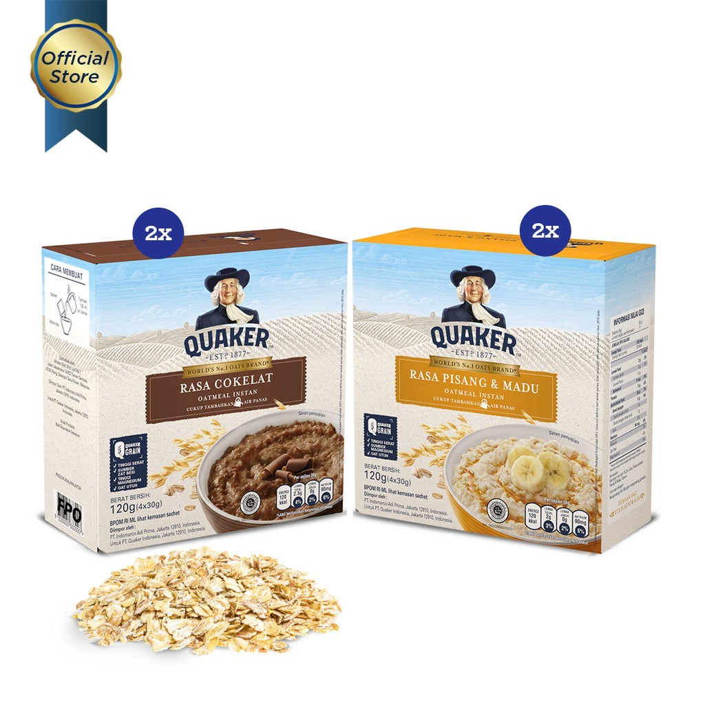 Quaker Instant Oatmeal .