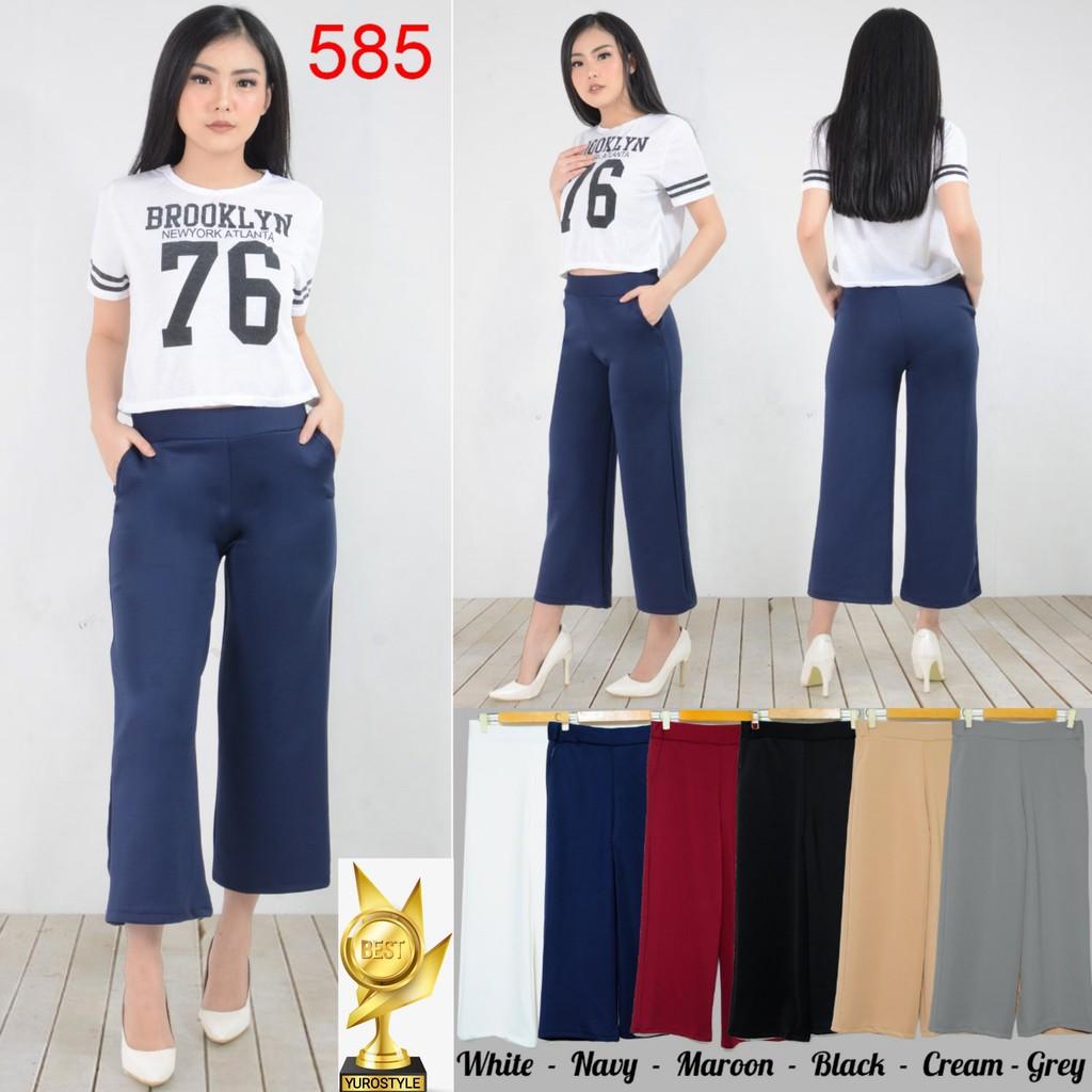 Celana Pants List Scuba Kode629 Shopee Indonesia Nagita Zara Side Stripe Hitam Merah Bahan