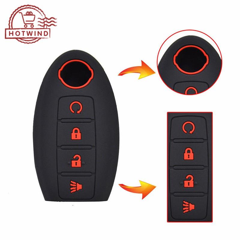 Silicone 4 Buttons Remote Key Case Cover For Nissan Altima Maxima Murano Rogue
