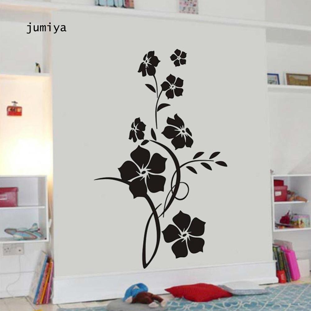 Stiker Dinding Motif Bunga Untuk Ruang Tamu Kamar Tidur Shopee Indonesia