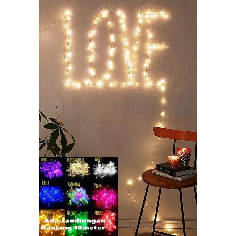 Lampu Hias Natal /Tumblr LIght 10 Meter + sambungan Female