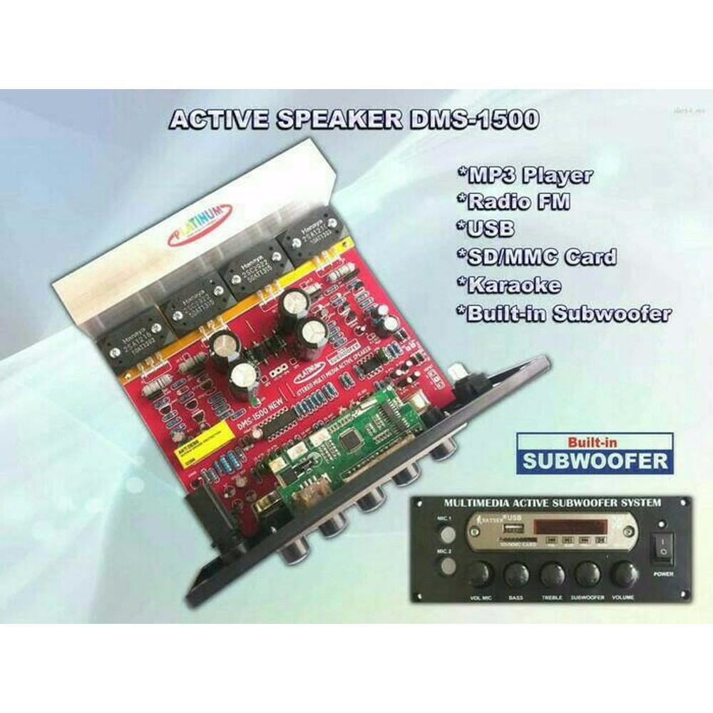 Kit Power Subwoofer Karaoke Mp3 Plus Dms 1500 Shopee Subwofer 330 Super Bass Indonesia