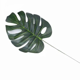 daun monstera artificial daun hias palsu ekor naga plastik