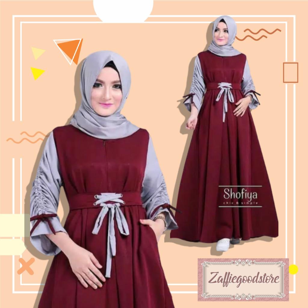 Model Baju Gamis Terbaru 12 Model Baju Lebaran Untuk Remaja Kel DB12  Fashion Muslim Baju Gamis W