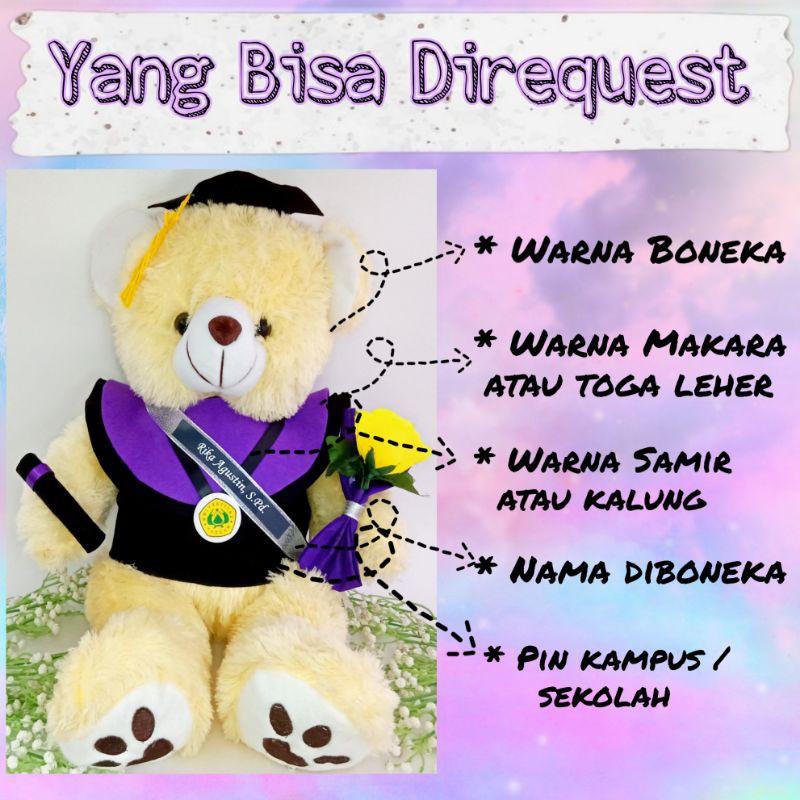 Cute Lamb Stuffed Animals, Boneka Wisuda Teddy Bear Besar 50cm Teddy Bear Wisuda Buket Bunga Shopee Indonesia