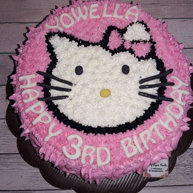 Kue Ulang Tahun Hello Kitty Blackforest Vanilla Cake Ultah Tart Shopee Indonesia