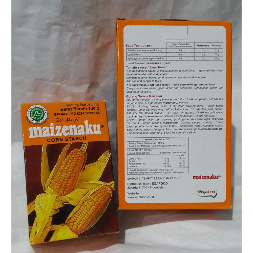 Maizenaku 100gr Tepung Maizena Masena 100 Gr Corned Beef Pronas Sachet Halal Shopee Indonesia