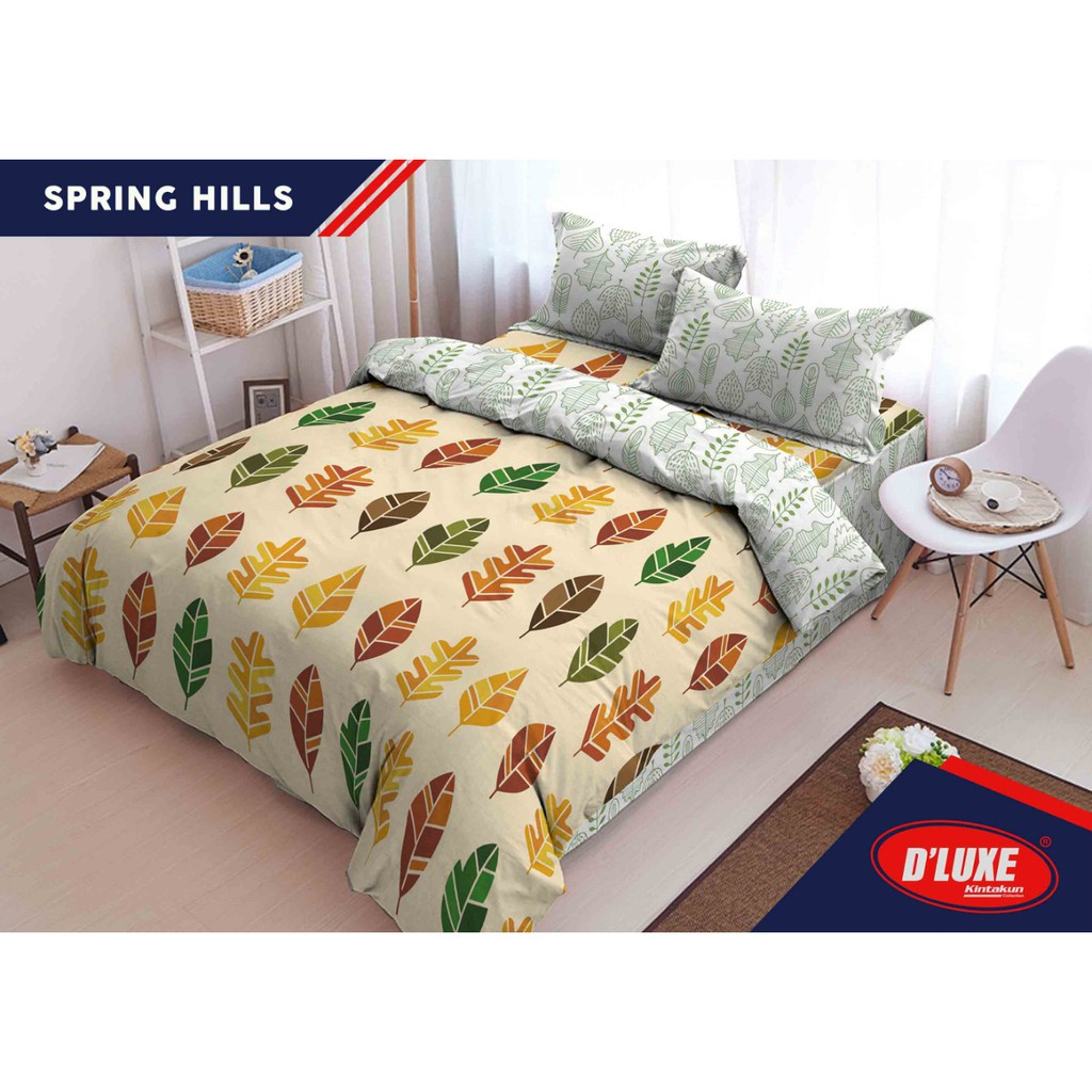 Kintakun Super Bundling Sprei Selimut Spring Hills Shopee Luxury 180x200 B2 King The Royals Indonesia