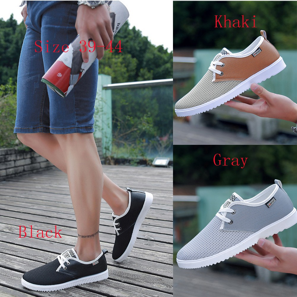 Pu Leather Shoes Sneakers Mens Lace Up Athletic Walking Low Top Redknot Hemera Black Outdoor 2018 Shopee Indonesia