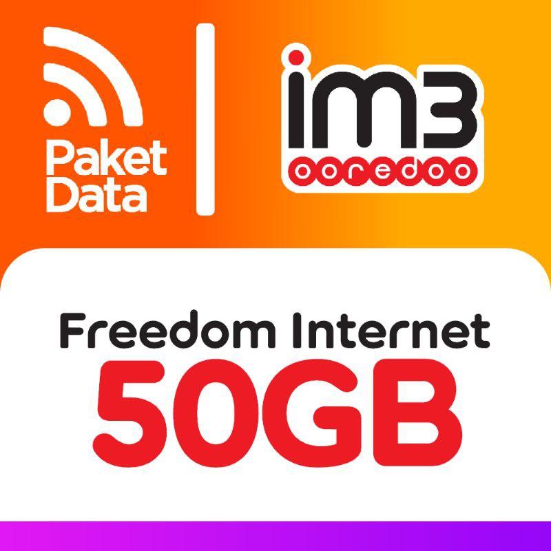 FLASHSALE!!! Paket Data Freedom Internet 50GB Indosat/IM3 Prabayar Kuota TerMURAH!!!