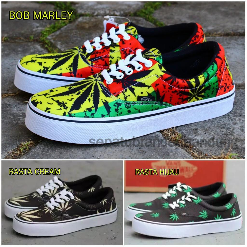Sepatu Vans era Rasta Reggae sneakers kets casual main cowok keren ... cc251a776e