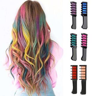💄1Pcs Non-Toxic Hair Chalk Comb Temporary Hair Dye Color Soft Pastels Salon