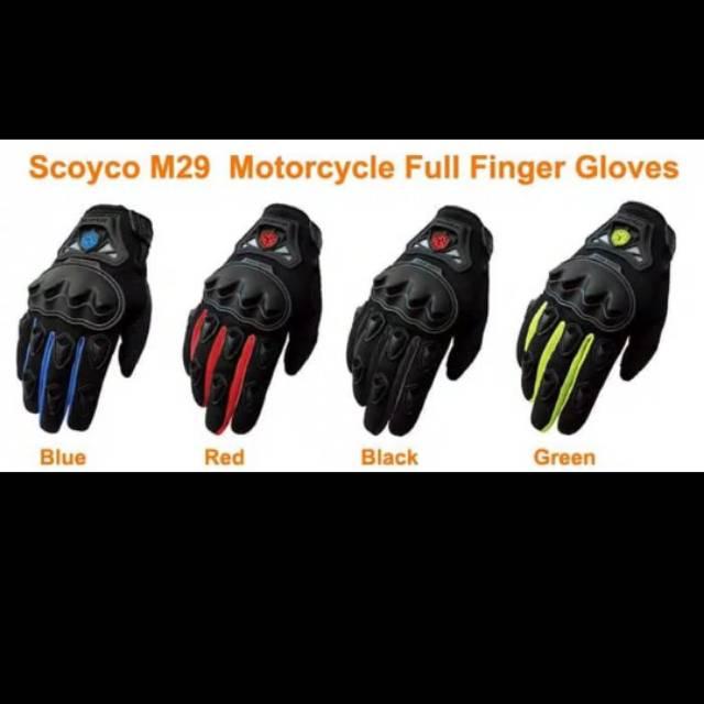 Scoyco Mc29 Sarung Tangan Motor Touring Tour Biker Bike Full Gloves ... a3be044094