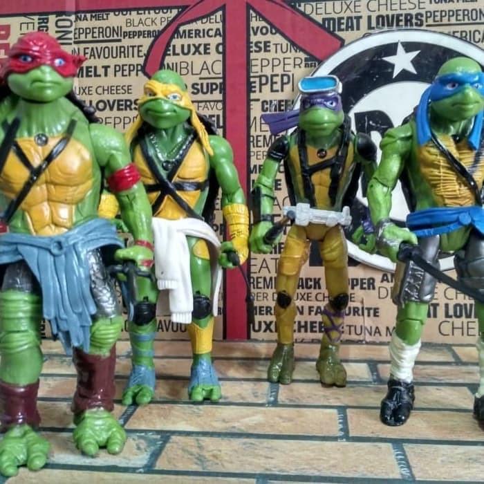 Jual Ninja Turtle Movie Version Action Figure Set Isi 4 Murah Shopee Indonesia