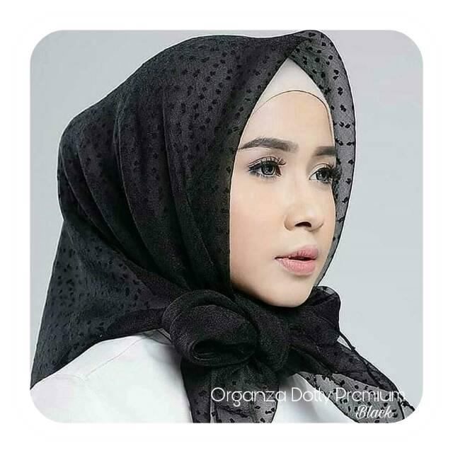 Hijab Organza Dotty Premium Shopee Indonesia