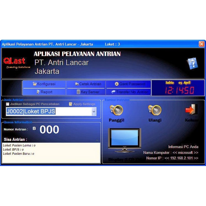 Keygen Software Antrian Qlast