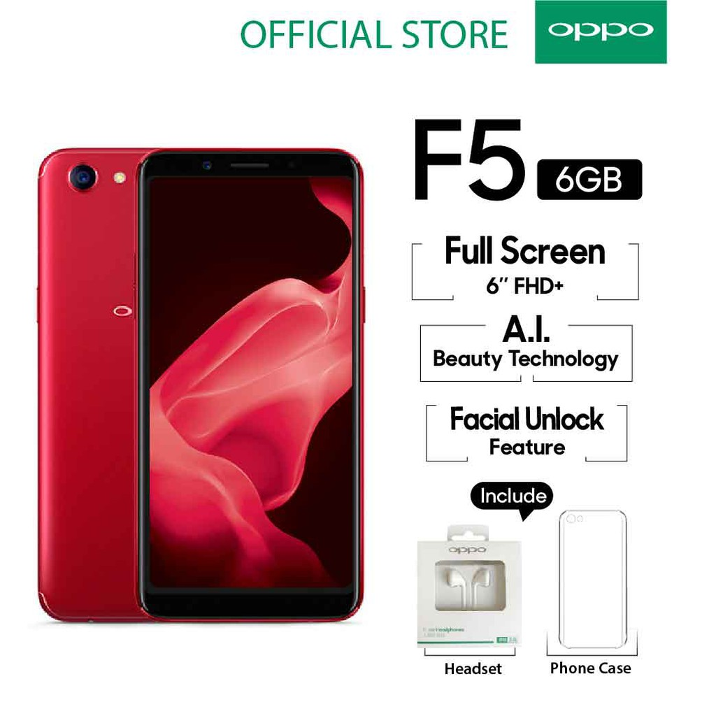 Oppo F5 Smartphone 6gb 64gb A I Beauty 20 Mp Cod Garansi Resmi