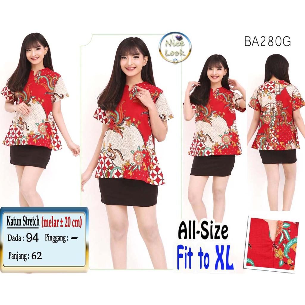 Blouse Etnik Batik warna Lengan Lonceng Murah Ukuran allsize fit JUMBO   Shopee Indonesia