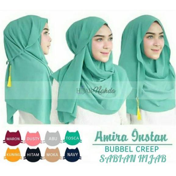 Parisku Pashmina Instant Katun Premium Amira Peach Daftar . Source · Hijab / Jilbab Kerudung Instan