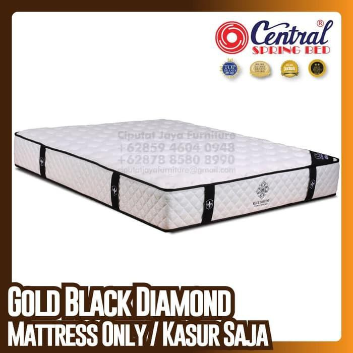 [ Perabot } 193E2951 Central New Gold Black Diamond - SpringBed - Ukuran 180 x 200 cm Furniture
