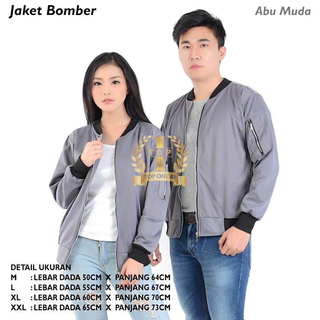 Topone88 Jaket Bomber Unisex Nevy Shopee Indonesia